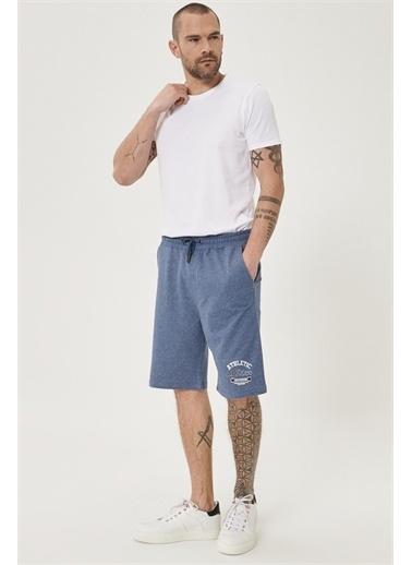 AC&Co / Altınyıldız Classics Slim Fit Günlük Rahat Spor Örme Şort 4A9521200007 Mavi